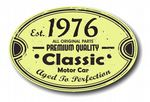 Distressed Aged Established 1976 Aged To Perfection Oval Design For Classic Car External Vinyl Car Sticker 120x80mm